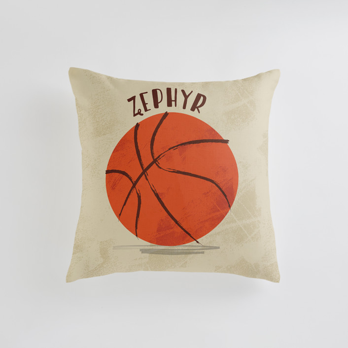 Let us play basketball Personalizable Pillows