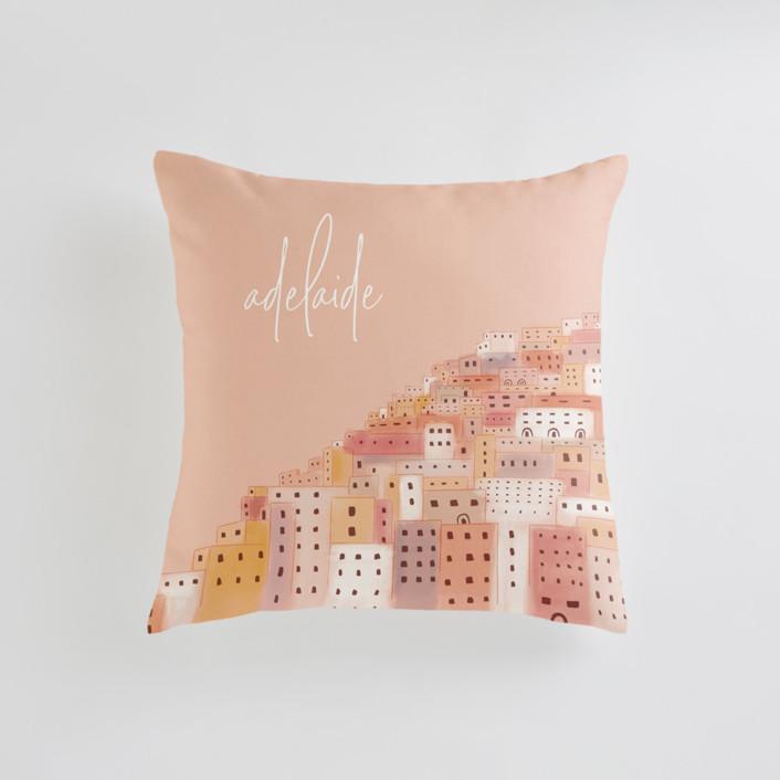 Positano Houses Personalizable Pillows
