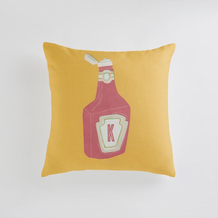 Ketchup Personalizable Pillows