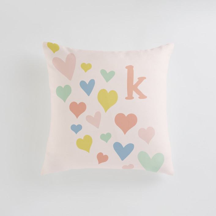 """wave of love"" - Personalizable Pillow in Blush by Kasia Labocki."
