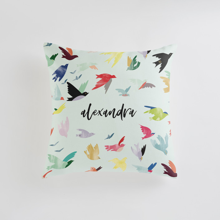 Songbirds Personalizable Pillows