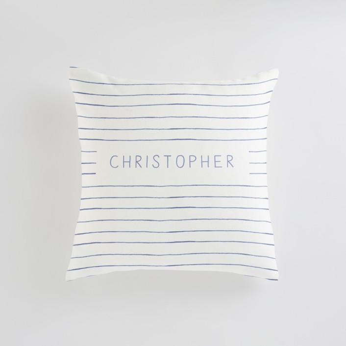 Breton Stripe Personalizable Pillows
