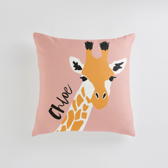 vibrant giraffe Personalizable Pillows