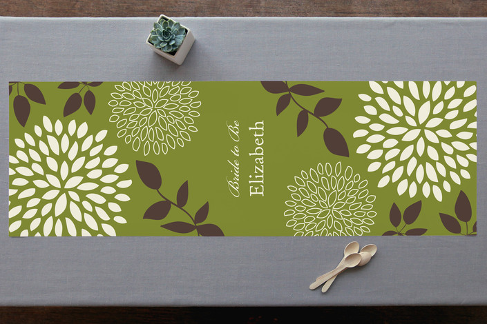 Everything Green Personalizable Table Runner