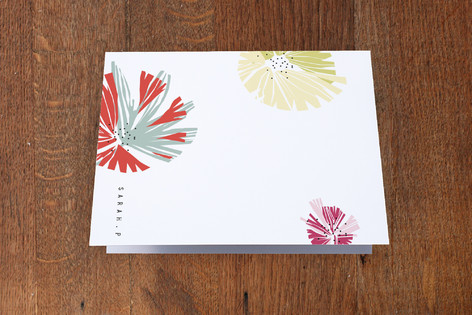 Dry Paint Folded Personal Stationery