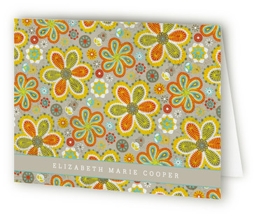 Vintage Moroccan Folded Personal Stationery