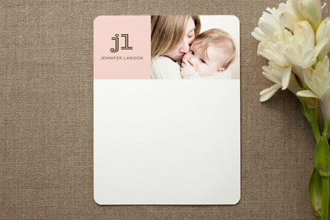 modern mommy Personalized Photo Stationery