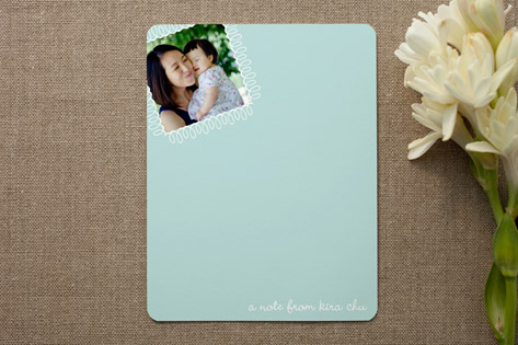 swirly stamp Personalized Photo Stationery