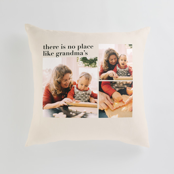"""""""Everlasting Cheer"""" - Large 24 Inch Photo Pillow in Ecru by Aspacia Kusulas."""