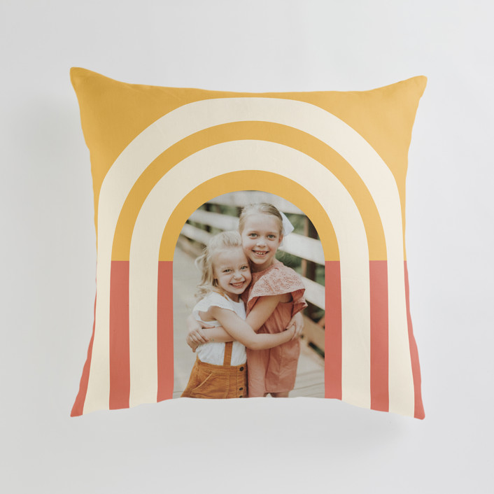 """""""Retro Vibes"""" - Large 24 Inch Photo Pillow in Sunrise by Iveta Angelova."""