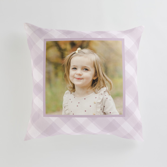 """""""Cadeau - Warm"""" - Large 24 Inch Photo Pillow in Lilac by Carrie ONeal."""