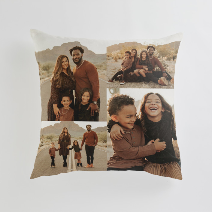 """""""Offset Grid"""" - Large 24 Inch Photo Pillow in Ivory by Minted."""