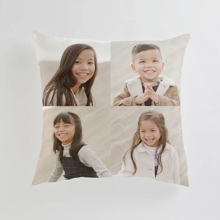 """""""Corner Quad"""" - Large 24 Inch Photo Pillow in Cream by Minted."""