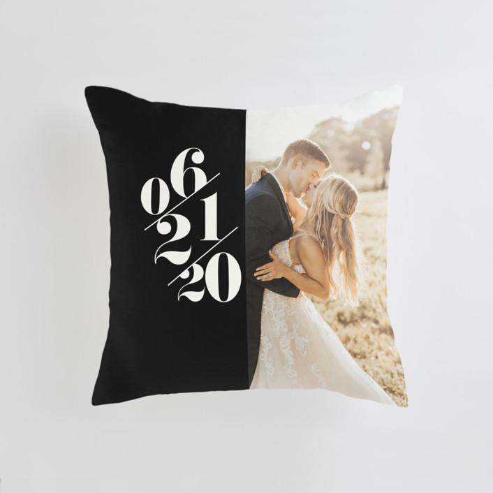 Delightful Date Medium Square Photo Pillow