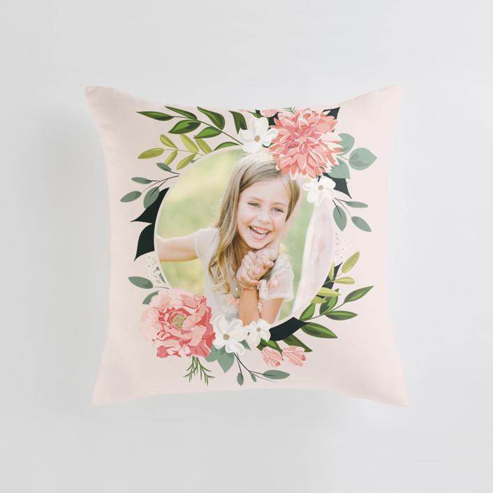 Summer Shower Medium Square Photo Pillow
