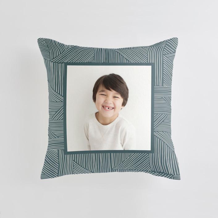 Sketchbook Geometric Medium Square Photo Pillow