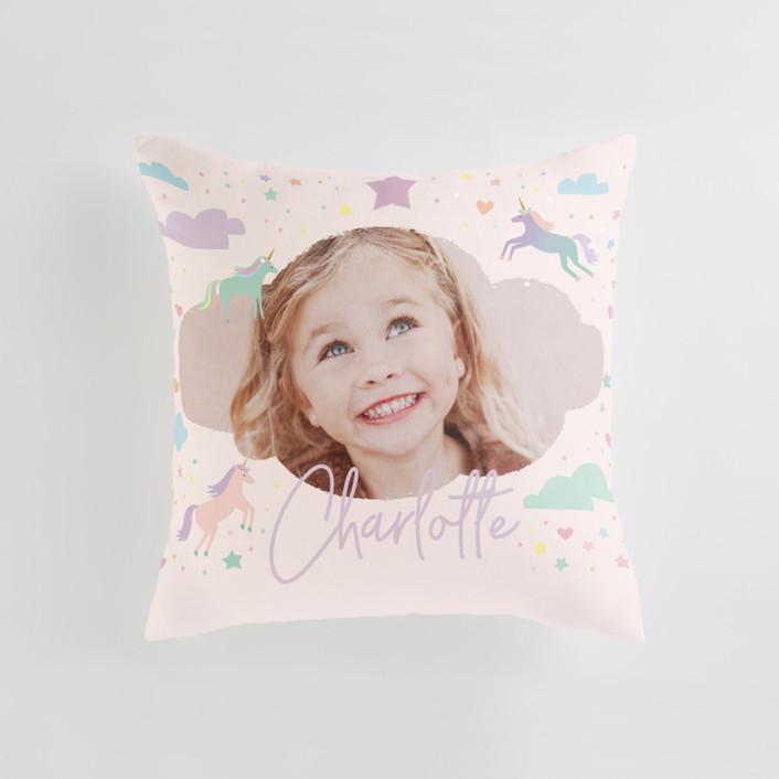 Unicorn Dreams Medium Square Photo Pillow