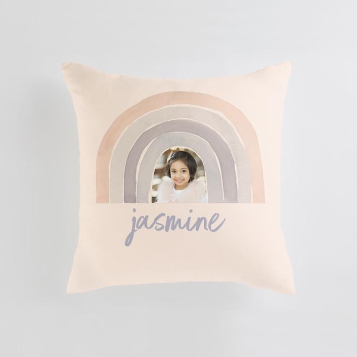 pastel rainbow Medium Square Photo Pillow