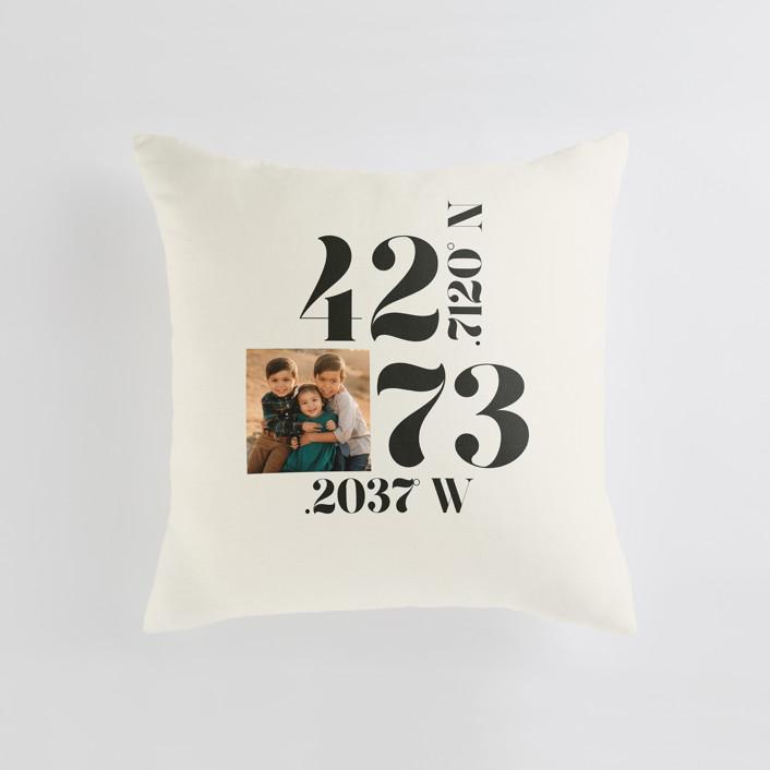 """Where The Heart Is"" - Medium 20 Inch Photo Pillow in Ecru by Annie Clark."