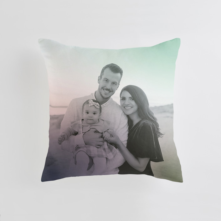 """""""Simple Hint"""" - Medium 20 Inch Photo Pillow in Lavender by Simona Camp."""