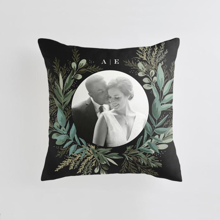 Forest Crest Medium Square Photo Pillow