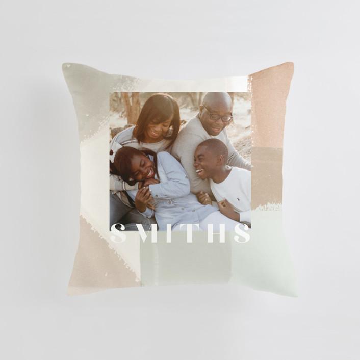 Layered Paint Medium Square Photo Pillow