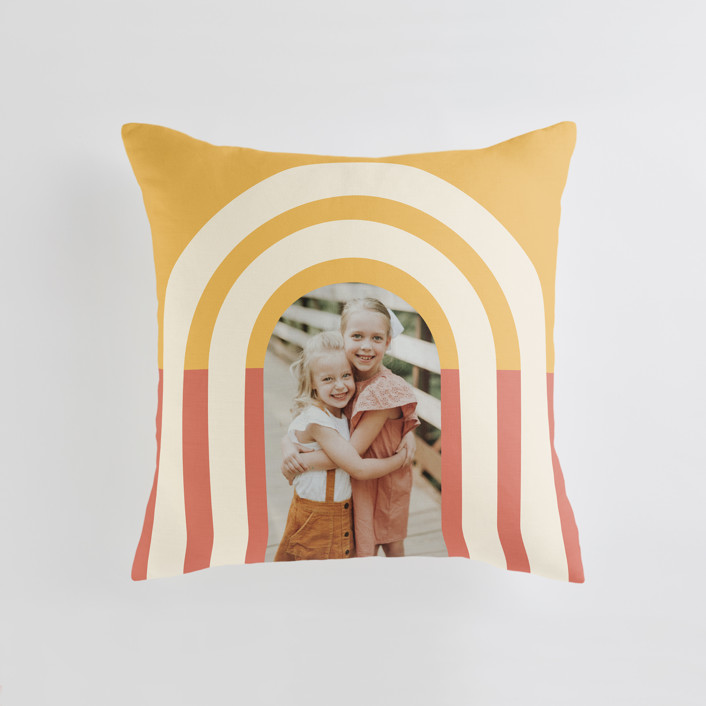 """Retro Vibes"" - Medium 20 Inch Photo Pillow in Sunrise by Iveta Angelova."