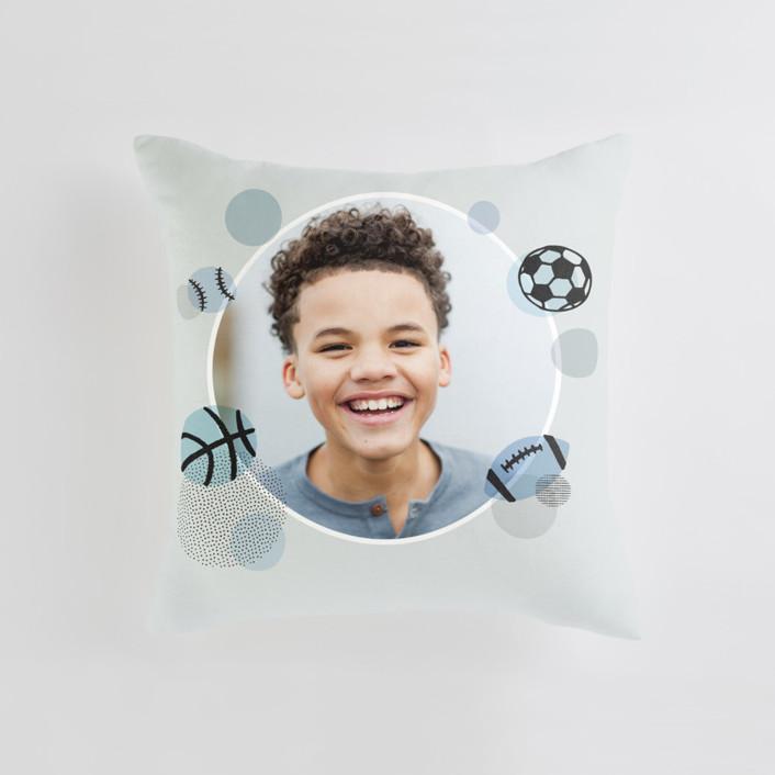 Pop Art Sports Medium Square Photo Pillow