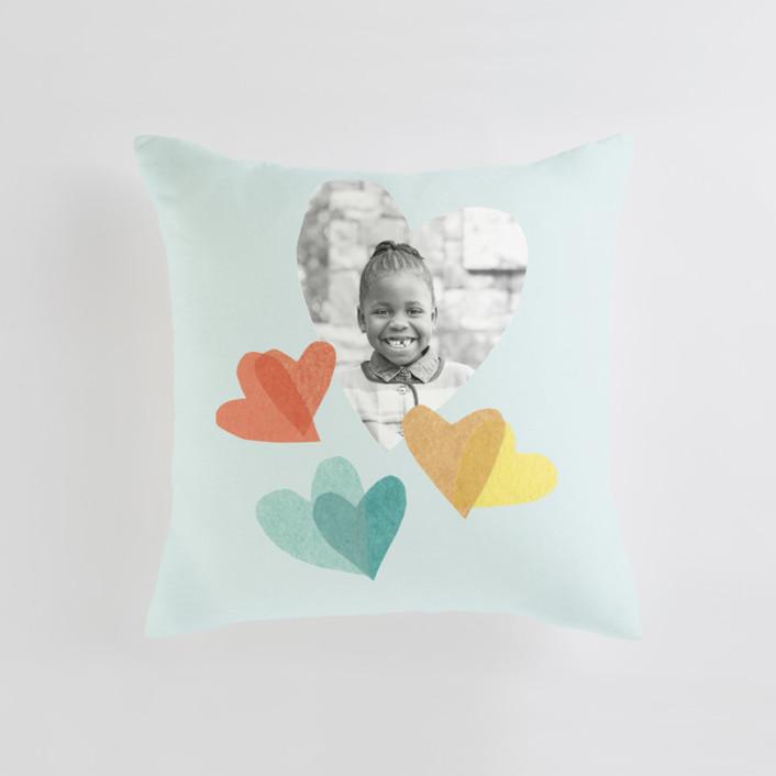 flittering hearts Medium Square Photo Pillow