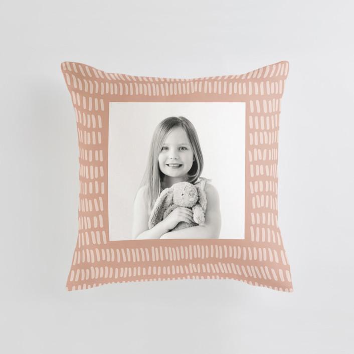 Division - Warm Medium Square Photo Pillow