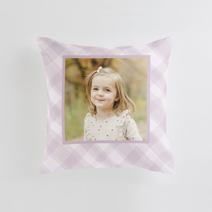 """""""Cadeau - Warm"""" - Medium 20 Inch Photo Pillow in Lilac by Carrie ONeal."""