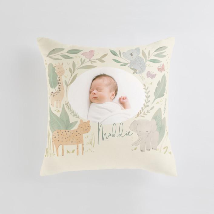Safari kid Medium Square Photo Pillow