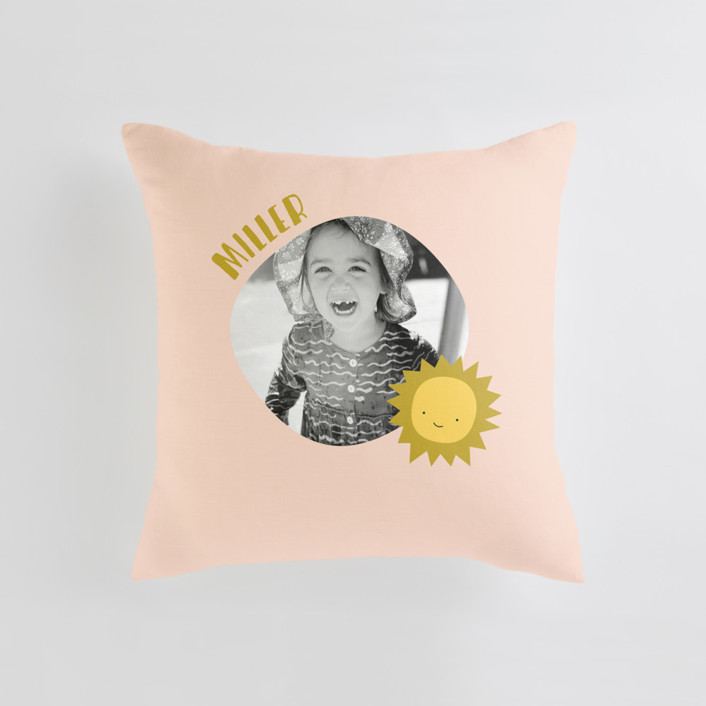 My Sunshine Medium Square Photo Pillow