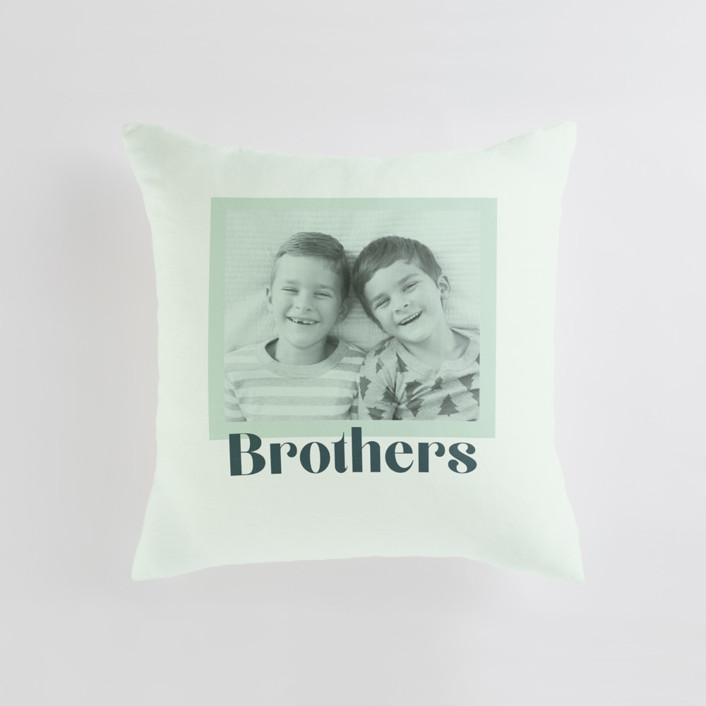Brothers Tinted Frame Medium Square Photo Pillow