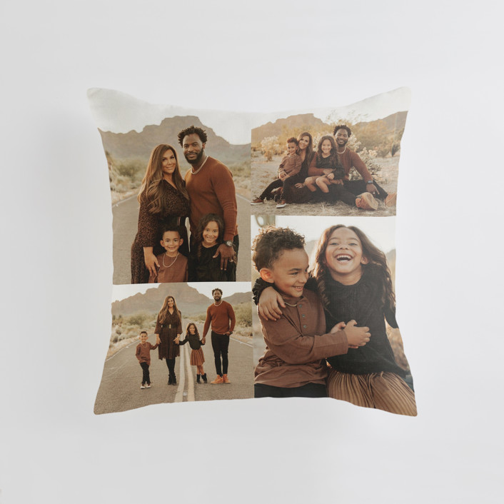 """""""Offset Grid"""" - Medium 20 Inch Photo Pillow in Ivory by Minted."""