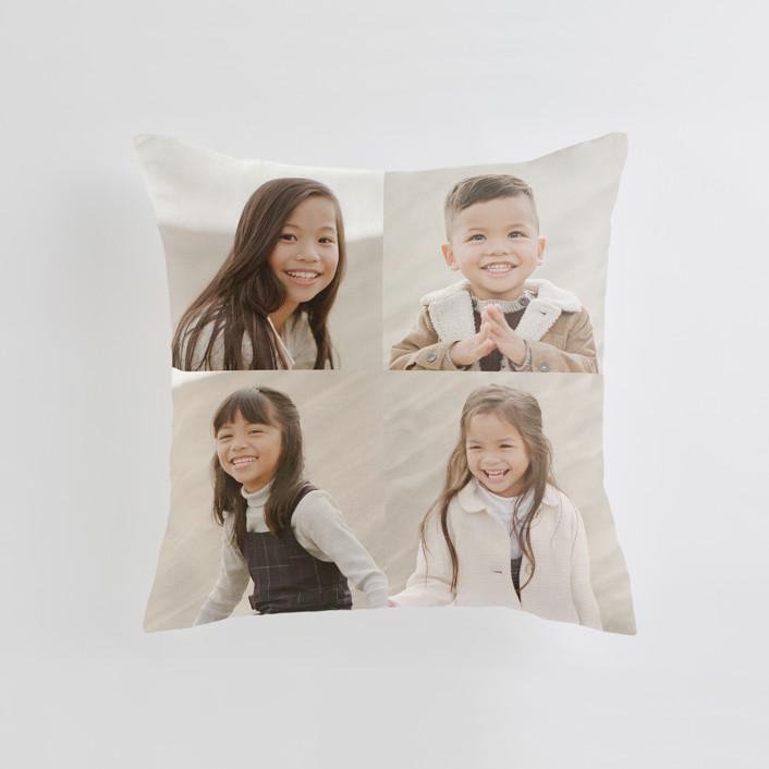 """Corner Quad"" - Medium 20 Inch Photo Pillow in Cream by Minted."
