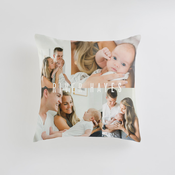 """""""Indie"""" - Small 18 Inch Photo Pillow in Cloud by Lauren Chism."""