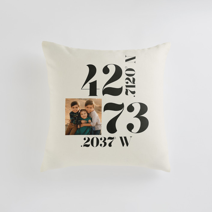 """Where The Heart Is"" - Small 18 Inch Photo Pillow in Ecru by Annie Clark."