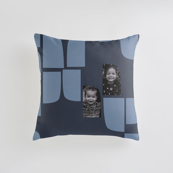 """""""mod flock"""" - Small 18 Inch Photo Pillow in Sienna by Carrie Moradi."""