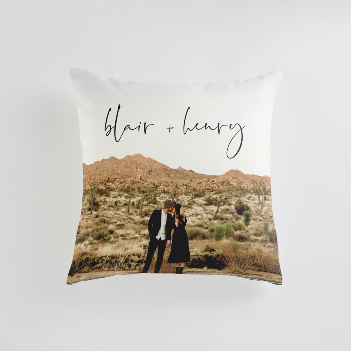 """one I love"" - Small 18 Inch Photo Pillow in Noir by Jennifer Lew."