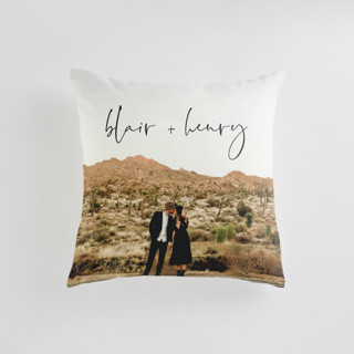 This is a black custom pillow by Jennifer Lew called one I love printing on premium cotton in standard.