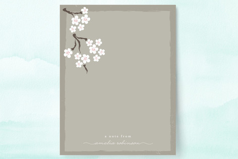 Blooming Blossoms Personalized Stationery