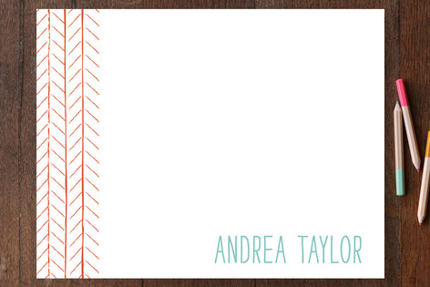 Pretty Poppies Personalized Stationery