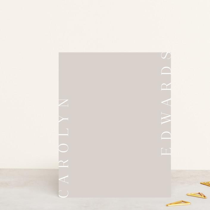 """sidestep"" - Personalized Stationery in Powder by Sara Hicks Malone."