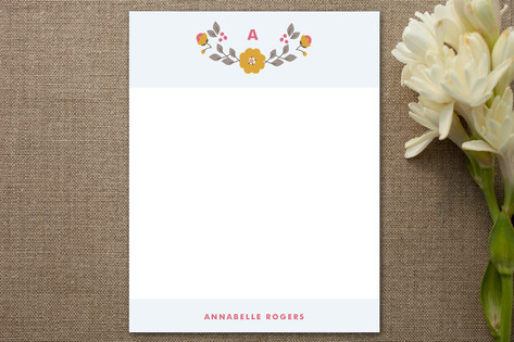 Early Blooms Personalized Stationery
