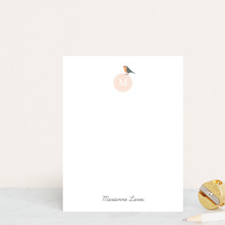 Robin Monogram Personalized Stationery