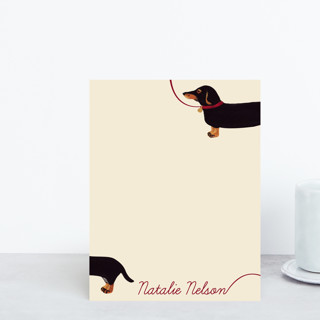 Weiner Dog Personalized Stationery
