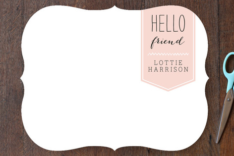 Friendly Hello Personalized Stationery