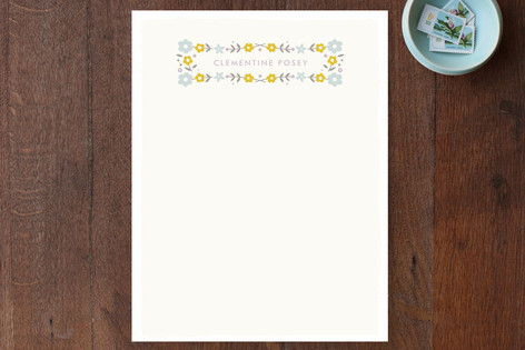 Framed Posies Personalized Stationery