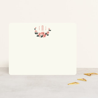 Pink Blossoms Personalized Stationery